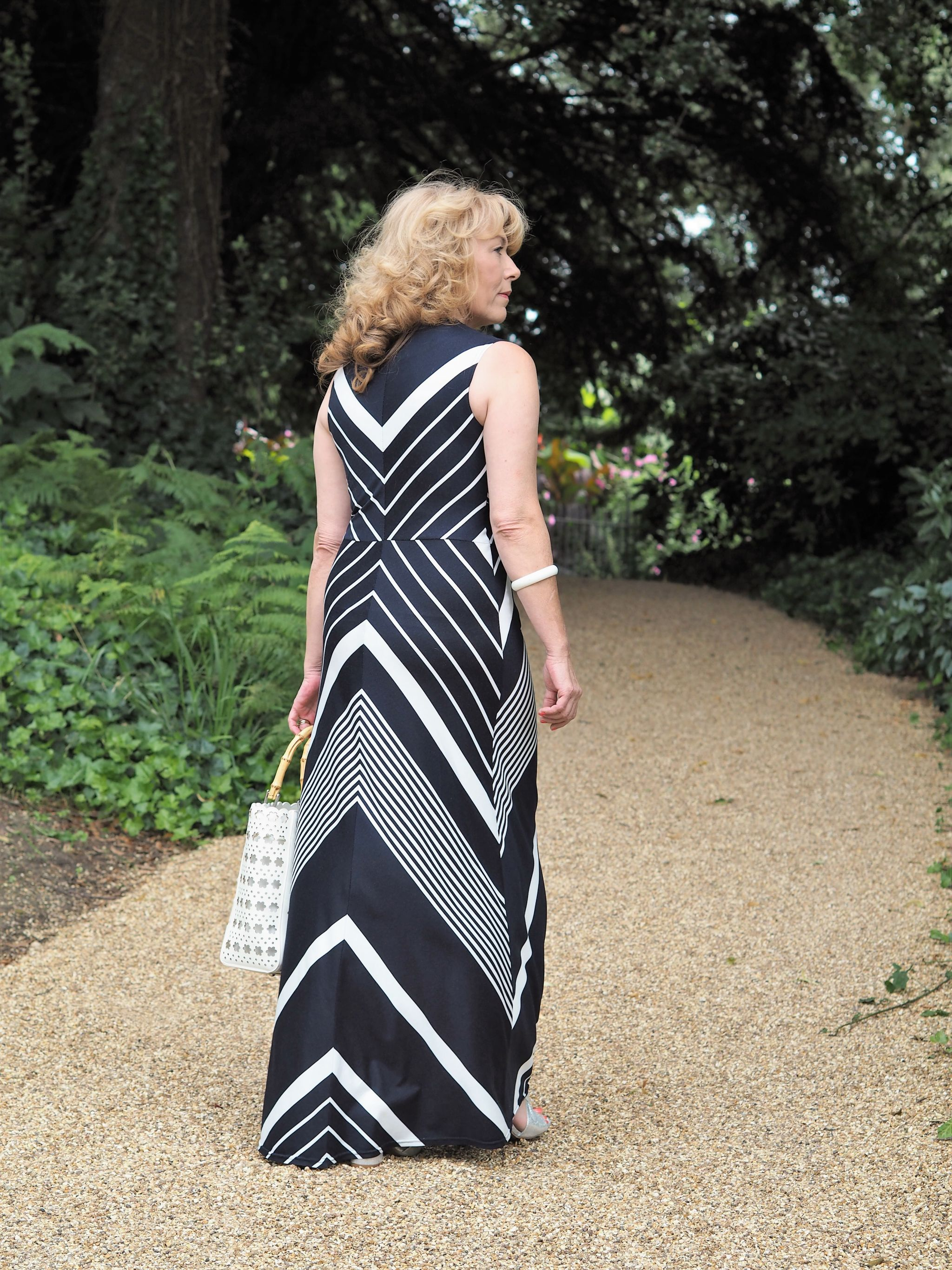 roman originals striped maxi dress