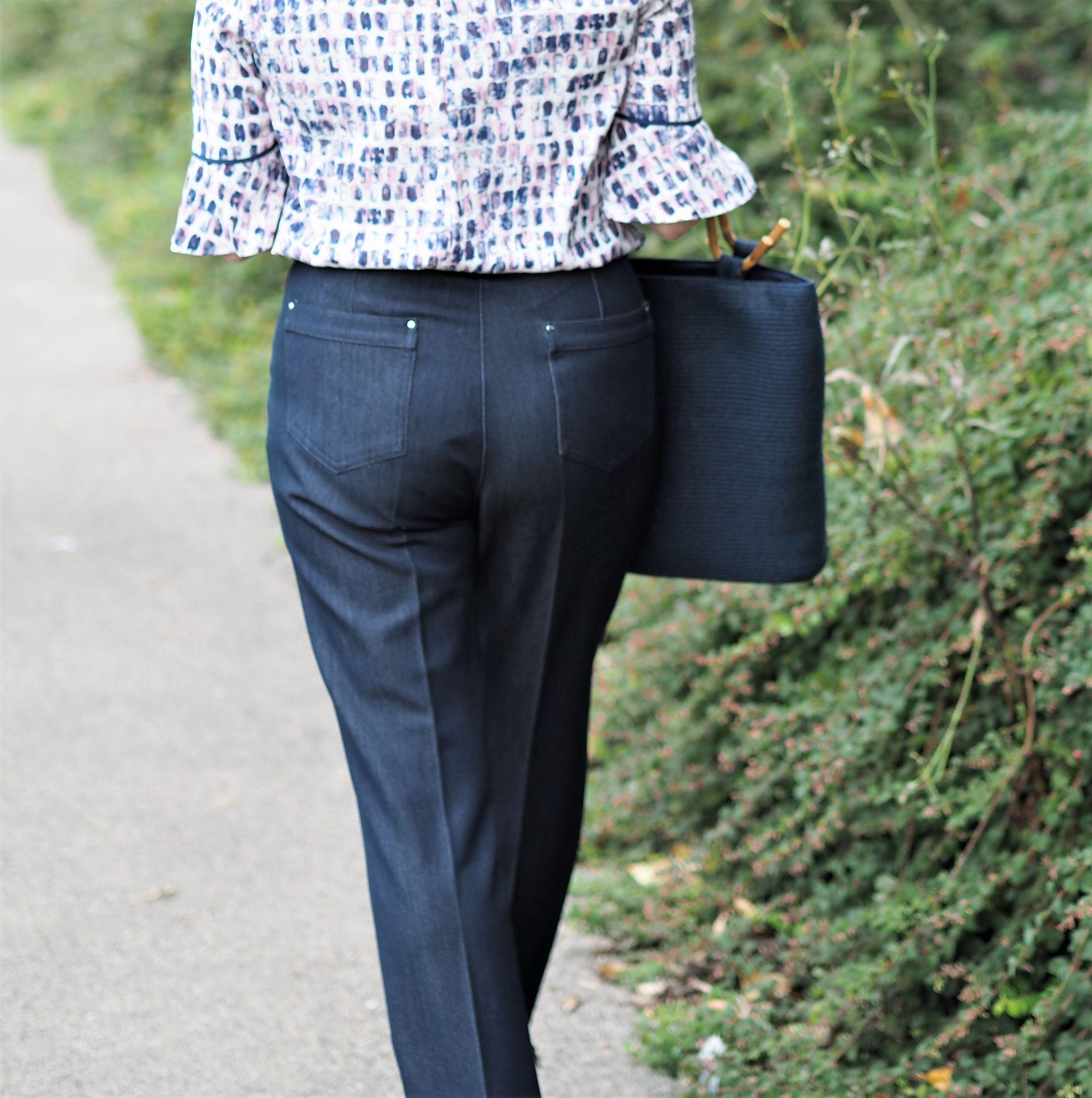 eastex straight denim smart trousers