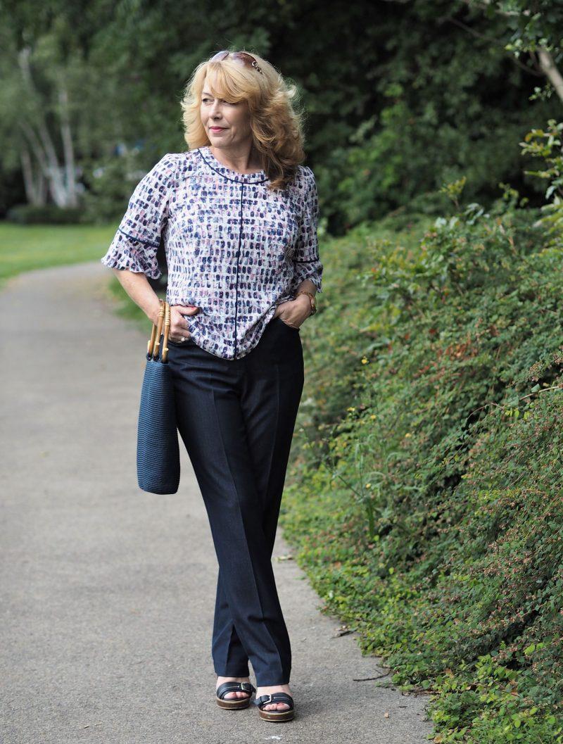 eastex fluted sleeve blouse