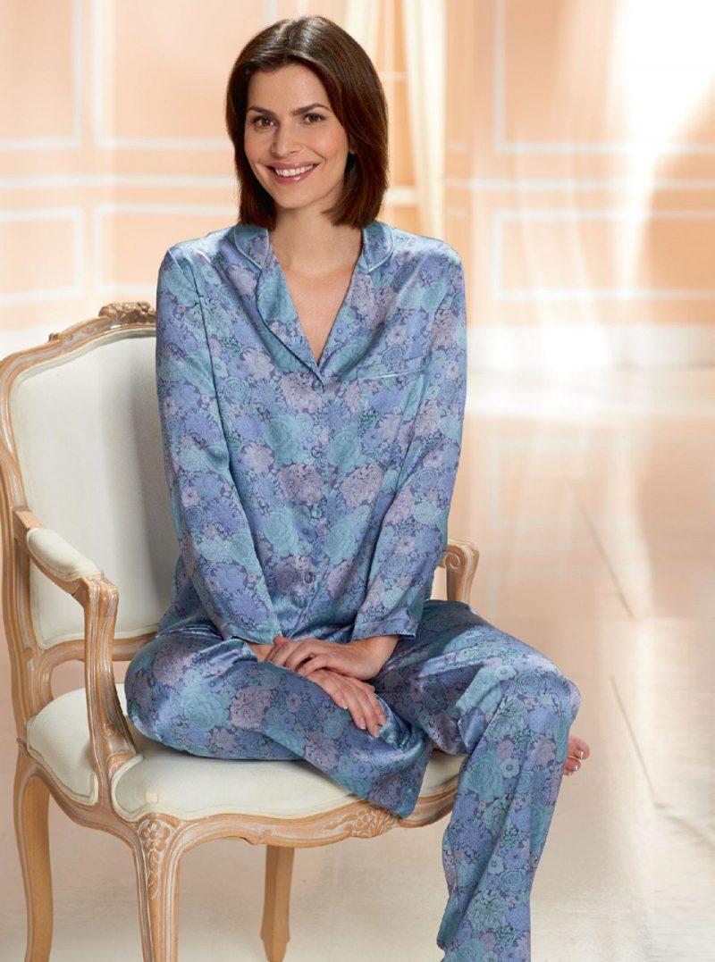 luxury loungewear and Liberty printed pajamas from David Napier
