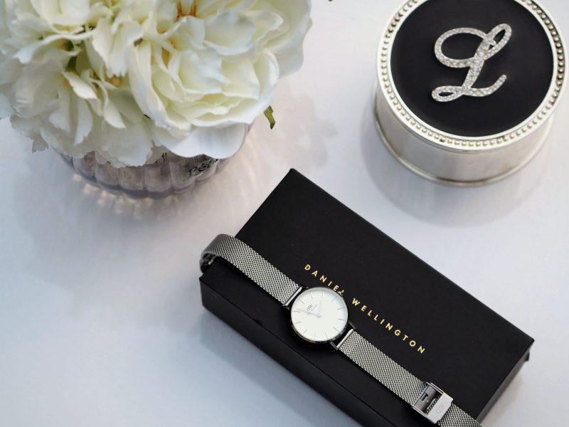 petite silver watch