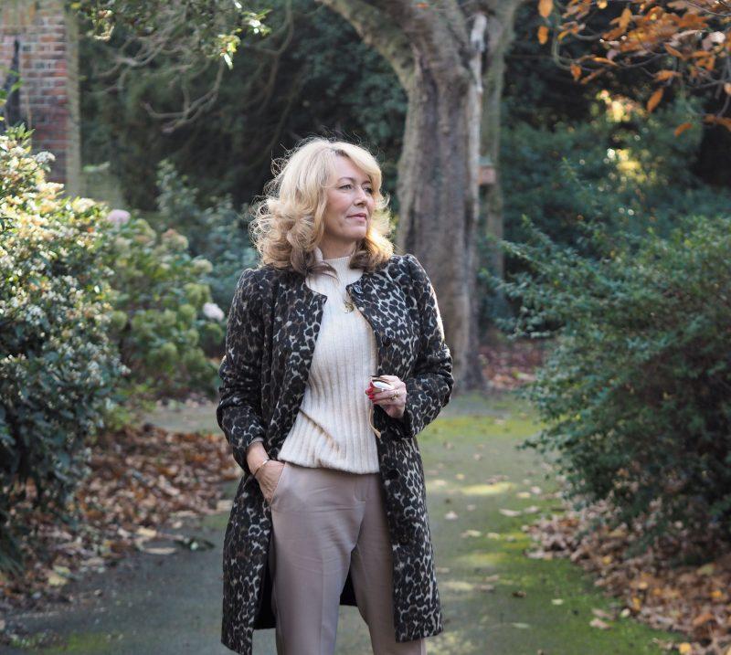 leopard print coat