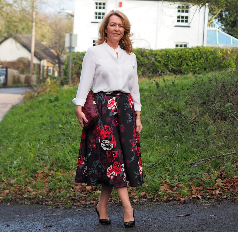 havren fit and flare skirt