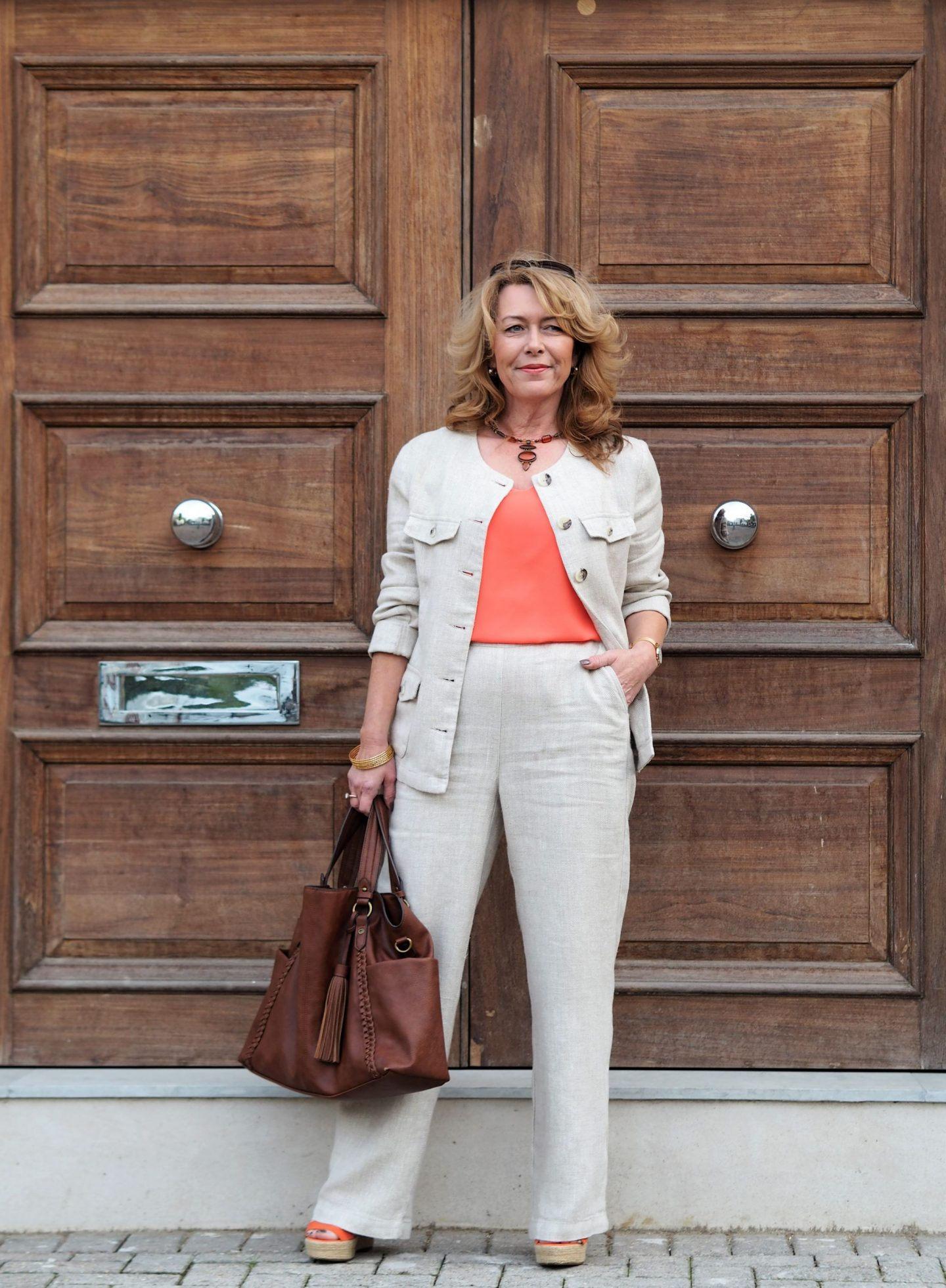 linen suit from Laura ashley