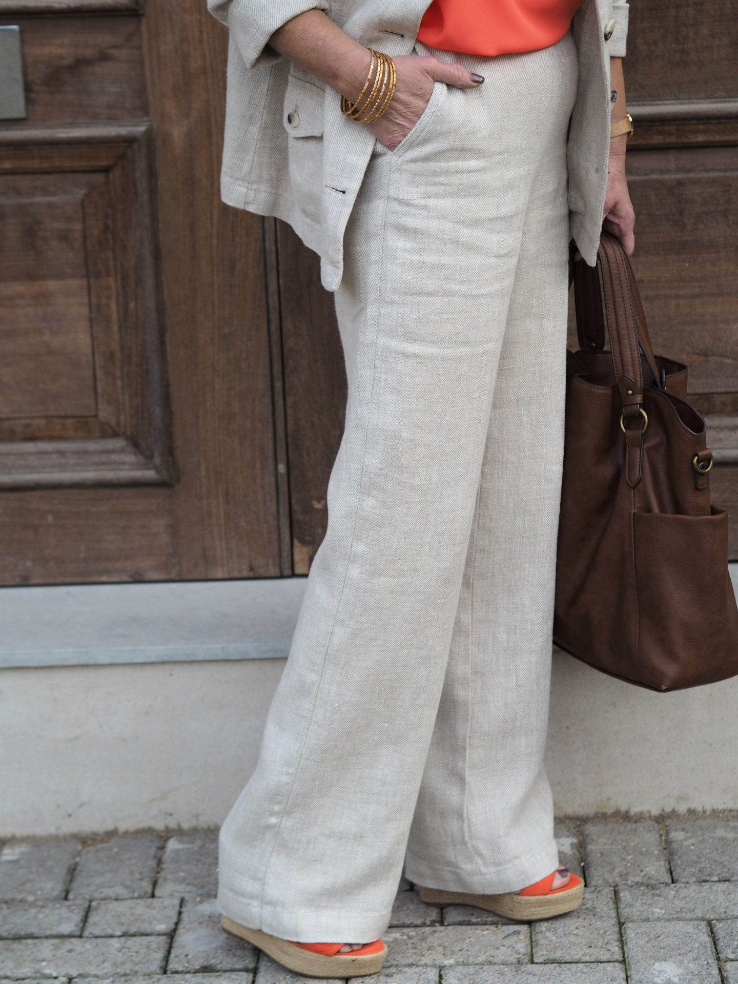 womens linen suit