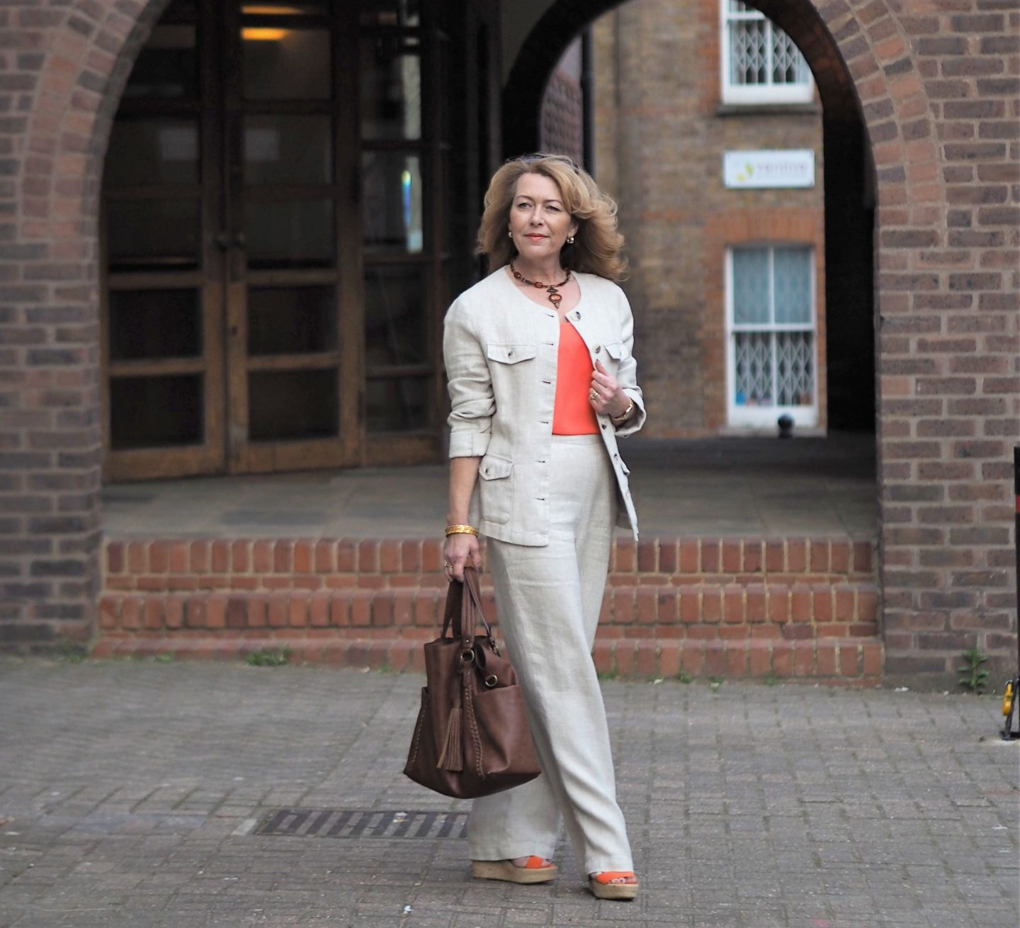 linen suit fro Laura Ashley