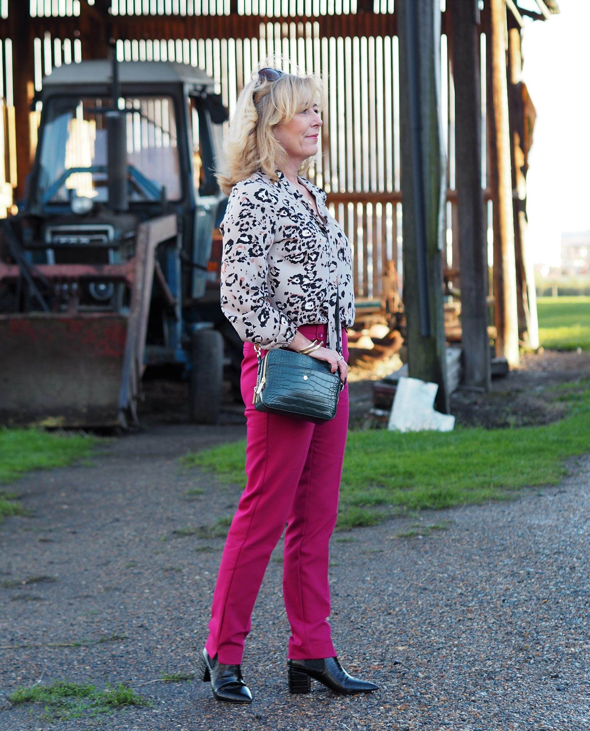 Leopard and cerise from Laura Ashley