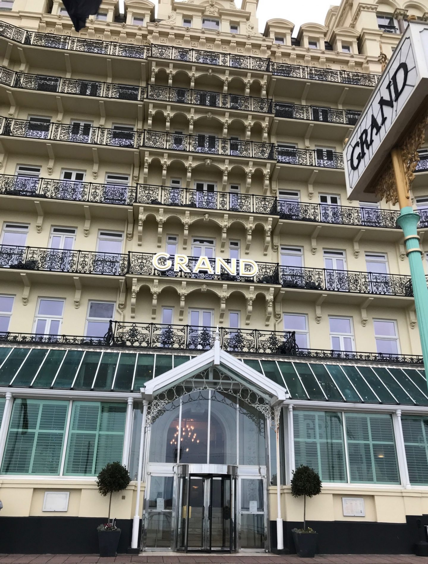 Many years ago I stayed in a hotel along the seafront and I remember walking past The Grand Hotel wishing that I was staying there.