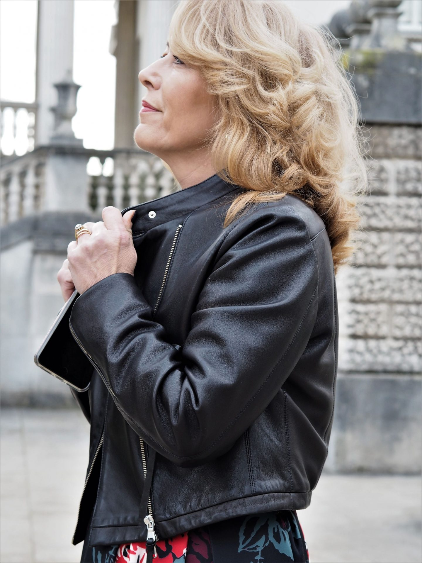 I've been excited to share this new biker jacket with you, not just because I love it but because of where it's from.