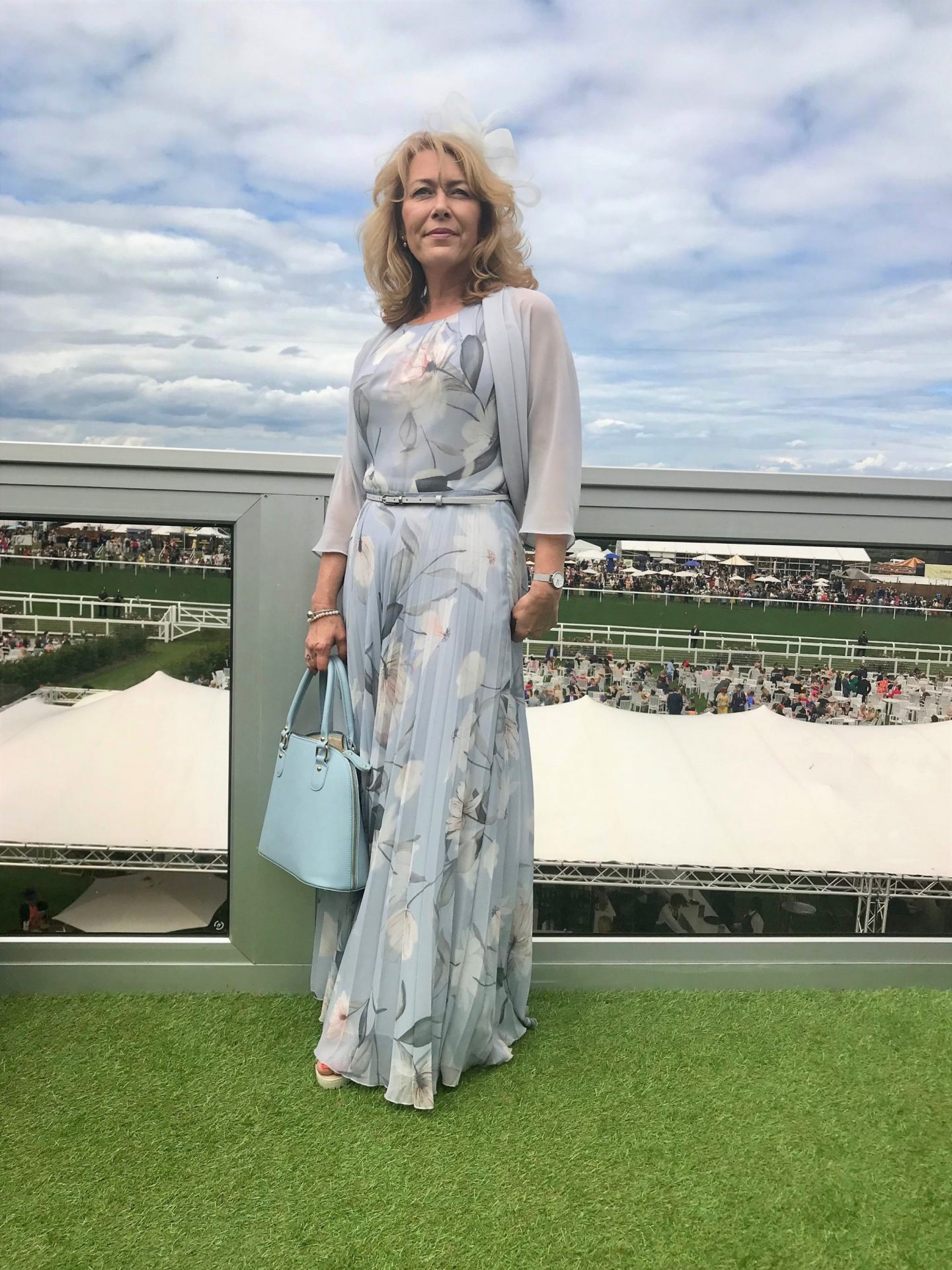 "I'd never been to Royal Ascott before either, so choosing a lovely dress and getting ""done up"" for the day was exciting. I really loved my outfit and that's what I'm sharing with you this week."