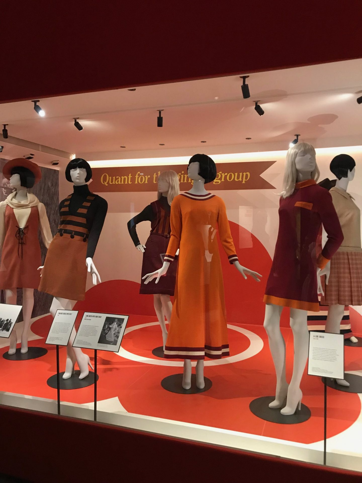mary quant at the Victoria and Albert museum